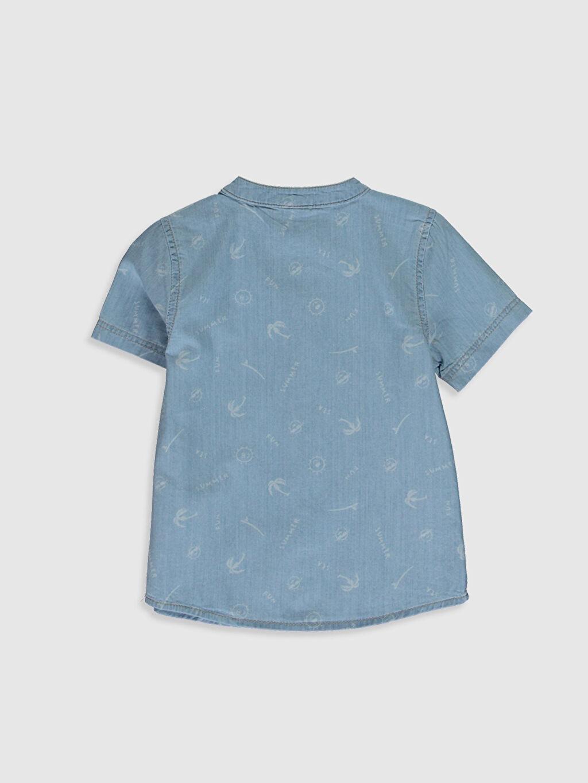 %100 Pamuk Standart Desenli Erkek Bebek Jean Gömlek