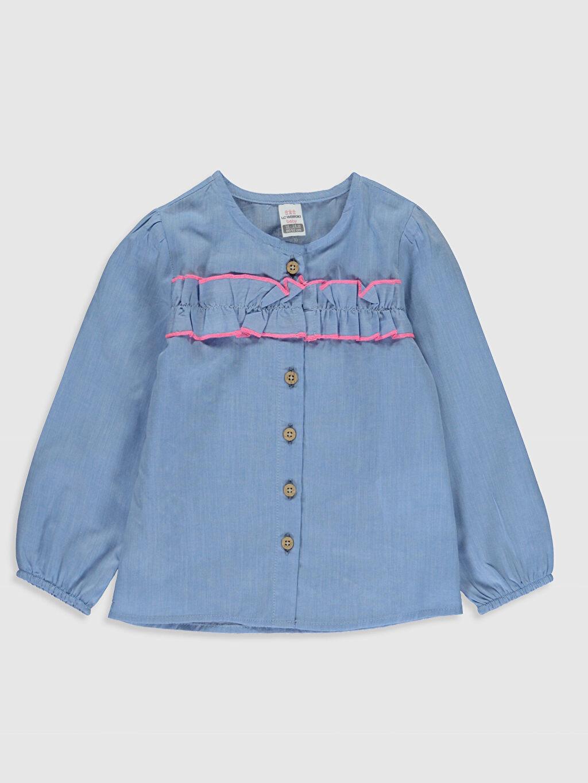 Mavi Kız Bebek Fırfırlı Gömlek 0S6327Z1 LC Waikiki