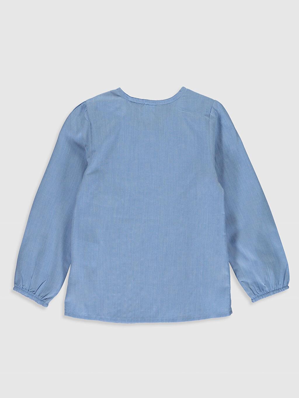 %100 Pamuk  Kız Bebek Fırfırlı Gömlek