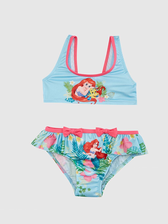 Mavi Kız Bebek Deniz Kızı Ariel Baskılı Bikini 0S6336Z1 LC Waikiki