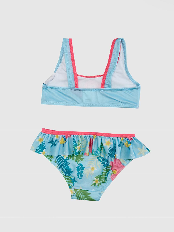 %77 Poliester %23 Elastane %91 Polyester %9 Elastan  Kız Bebek Deniz Kızı Ariel Baskılı Bikini