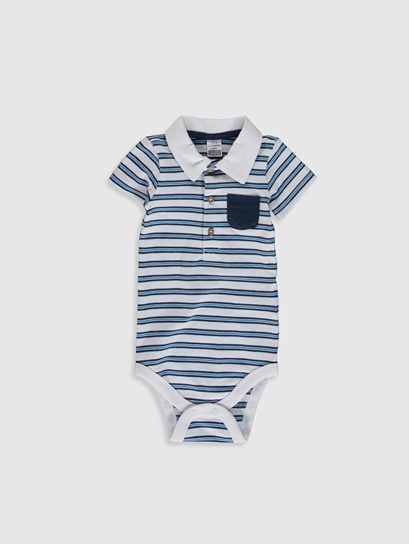 Beyaz Erkek Bebek Desenli Çıtçıtlı Body 0S6492Z1 LC Waikiki