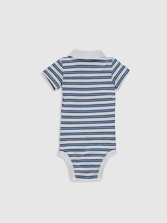 %93 Pamuk %7 Elastan  Erkek Bebek Desenli Çıtçıtlı Body