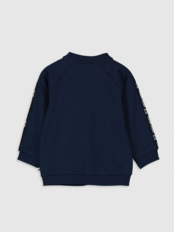 %100 Pamuk  Erkek Bebek Fermuarlı Sweatshirt