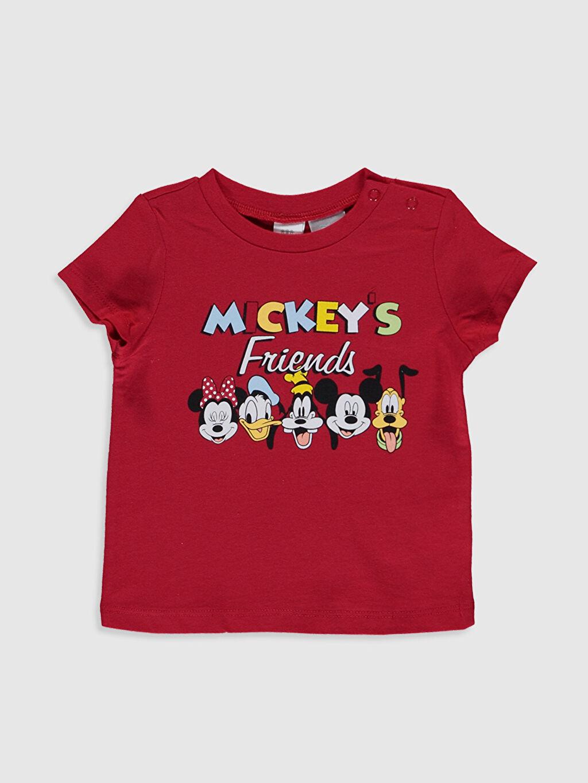 Erkek Bebek Erkek Bebek Disney Baskılı Pamuklu Tişört 2'li