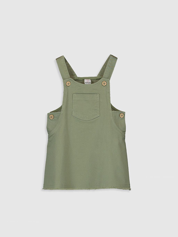 Yeşil Kız Bebek Twill Elbise 0S6538Z1 LC Waikiki