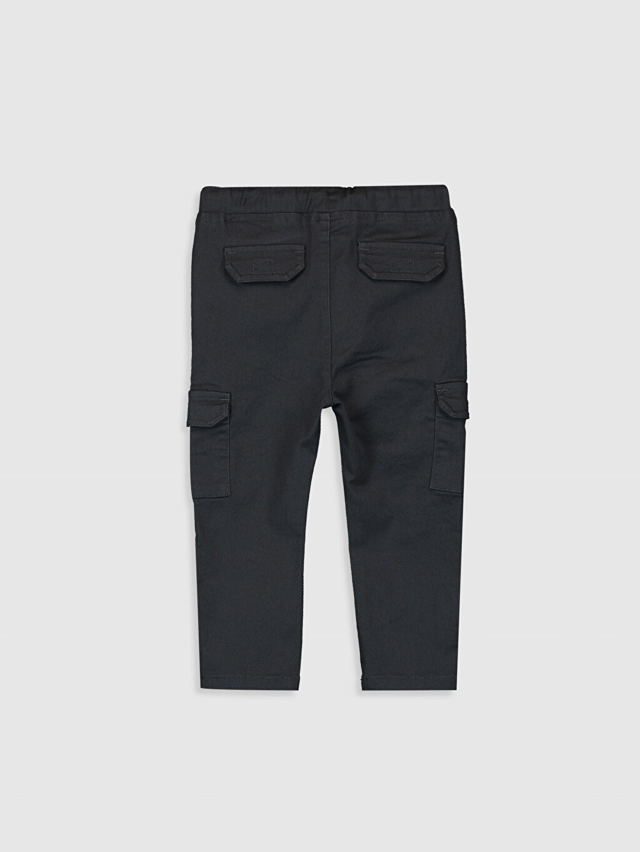 %98 Pamuk %2 Elastan Standart Normal Bel Erkek Bebek Kargo Cepli Pantolon