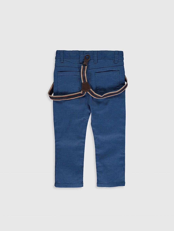 %98 Pamuk %2 Elastan %79 Polyester %21 ELASTODİEN Dar Erkek Bebek Gabardin Pantolon ve Pantolon Askısı