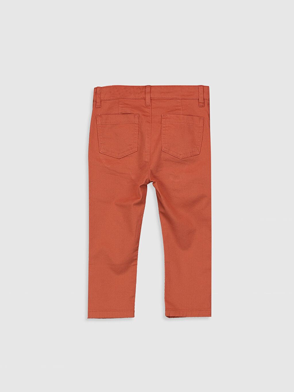 %98 Pamuk %2 Elastan Dar Erkek Bebek Slim Fıt Gabardin Pantolon