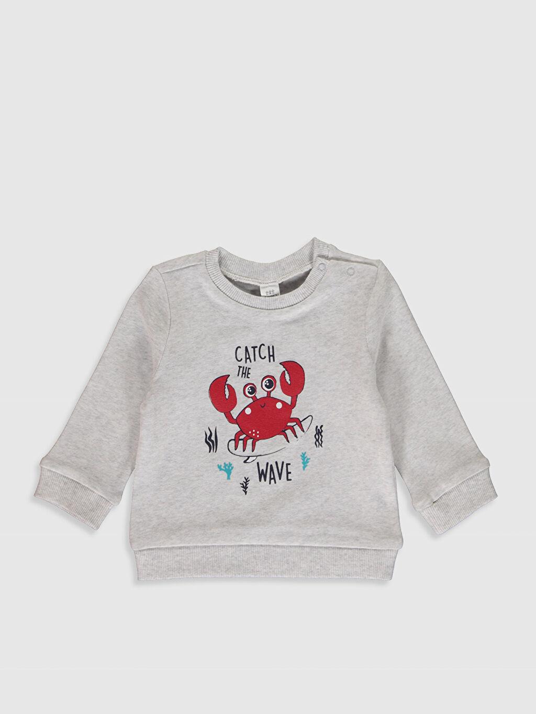 Erkek Bebek Baskılı Sweatshirt 2'li