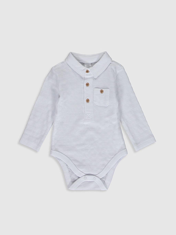 Beyaz Erkek Bebek Polo Yaka Çıtçıtlı Body 0S6836Z1 LC Waikiki
