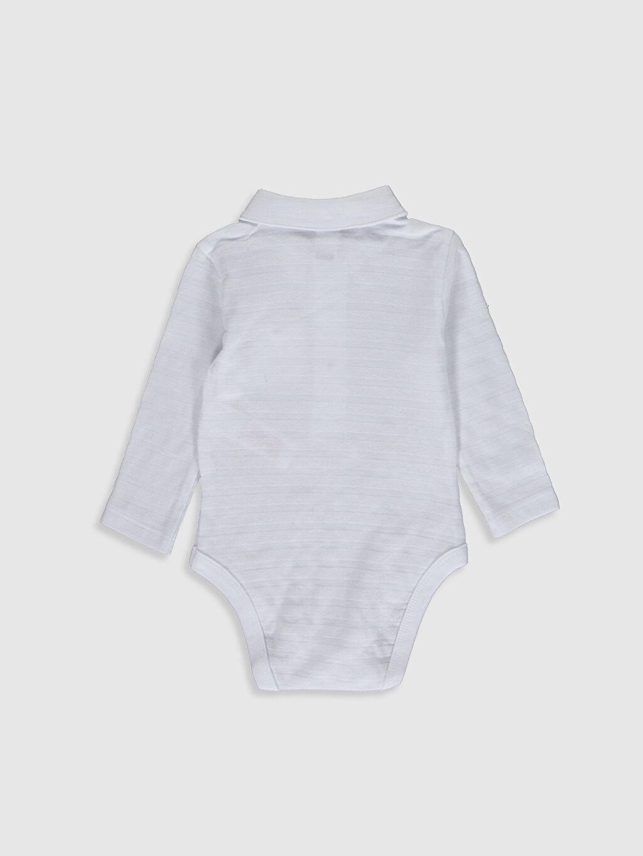 %100 Pamuk  Erkek Bebek Polo Yaka Çıtçıtlı Body