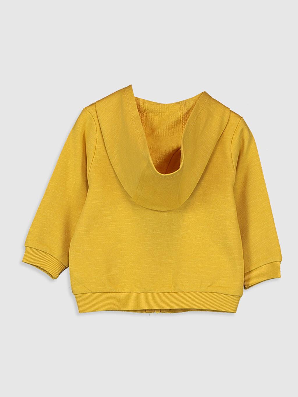 %100 Pamuk  Erkek Bebek Kapüşonlu Fermuarlı Sweatshirt