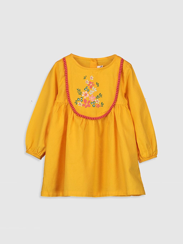 Turuncu Desenli Elbise 0S7010Z1 LC Waikiki
