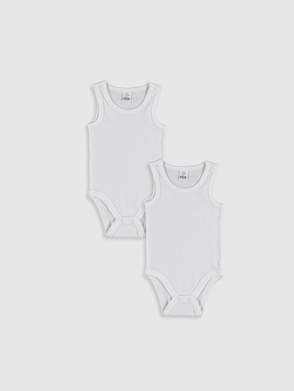 Beyaz Erkek Bebek Pamuklu Çıtçıtlı Body 2'li 0S7016Z1 LC Waikiki