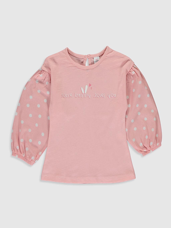 Pembe Kız Bebek Baskılı Sweatshirt 0S7421Z1 LC Waikiki