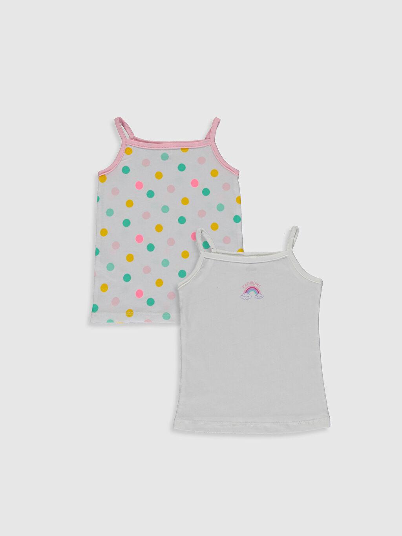 Beyaz Kız Bebek Baskılı Atlet 2'li 0S7485Z1 LC Waikiki