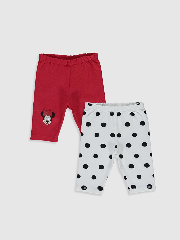 Kırmızı Kız Bebek Minnie Mouse Baskılı PijamaAlt 2'li 0S7511Z1 LC Waikiki