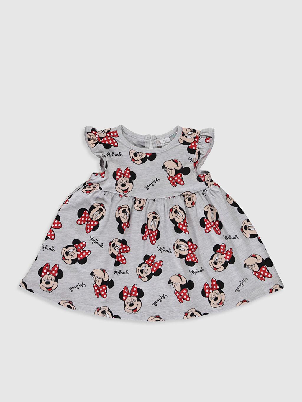 Kız Bebek Kız Bebek Minnie Mouse Baskılı Elbise 2'li