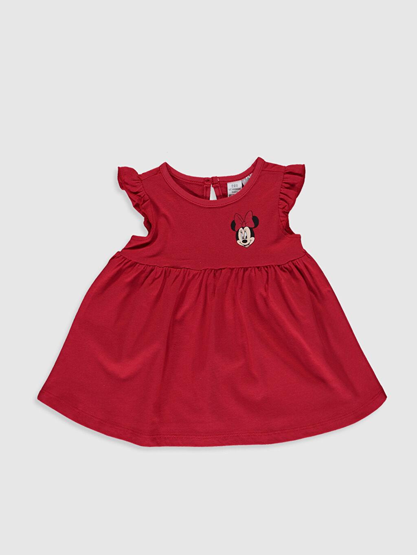 Kız Bebek Minnie Mouse Baskılı Elbise 2'li