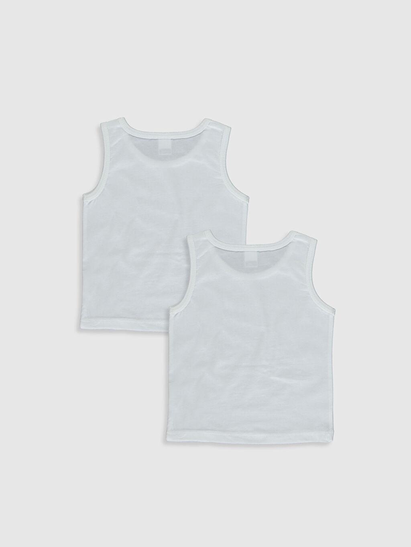 %100 Pamuk İç Giyim Üst Standart Erkek Bebek Pamuklu Atlet 2'li