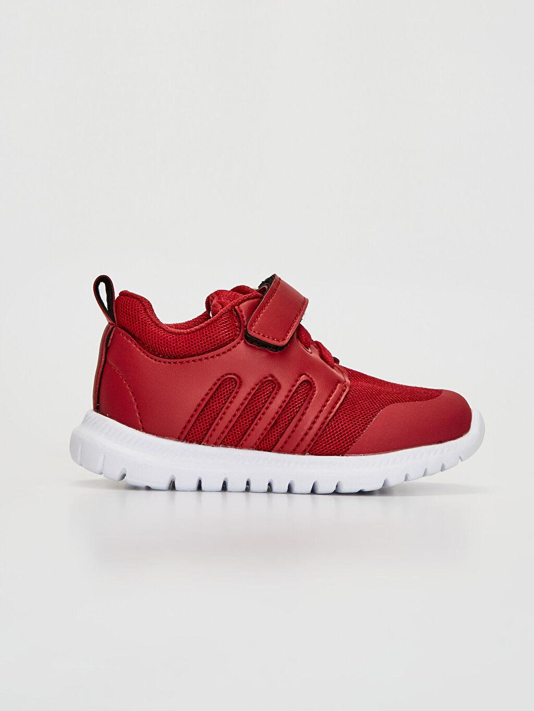 Kırmızı Erkek Bebek Cırt Cırtlı Günlük Spor Ayakkabı 0S8428Z1 LC Waikiki
