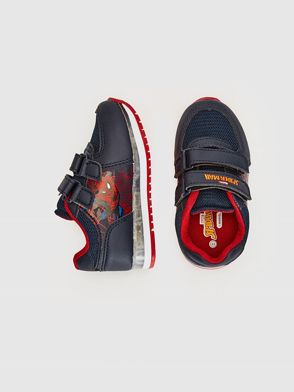 %0 Diğer malzeme (pvc) %0 Tekstil malzemeleri (%100 poliester)  Erkek Bebek Spiderman Baskılı Cırt Cırtlı Ayakkabı