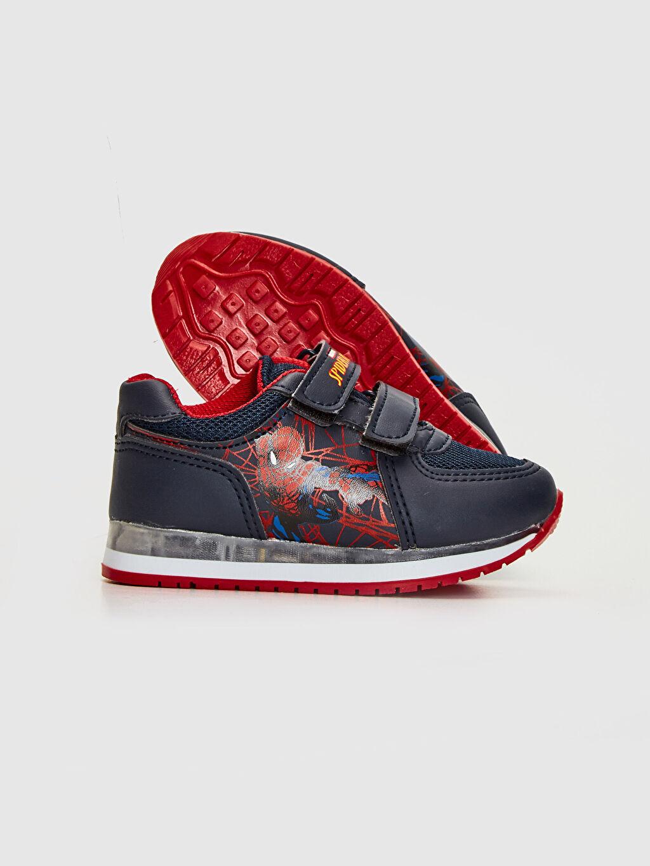 Erkek Bebek Erkek Bebek Spiderman Baskılı Cırt Cırtlı Ayakkabı