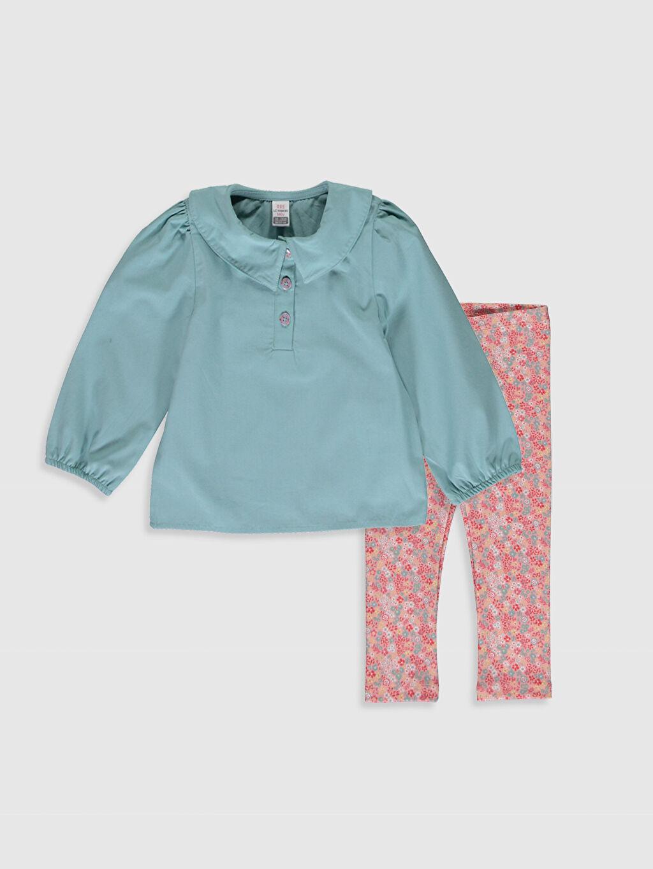 Yeşil Kız Bebek Bluz ve Pantolon 0S8491Z1 LC Waikiki