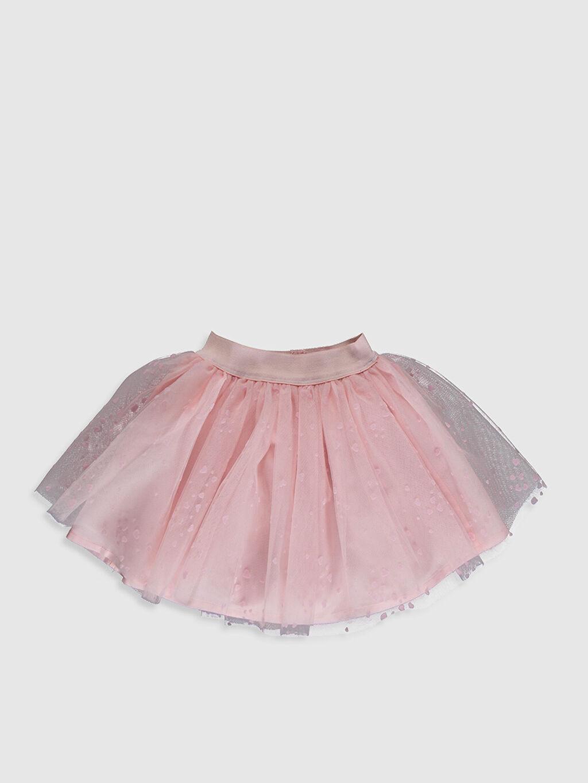 %100 Polyester %100 Pamuk Diz Üstü Desenli Kız Bebek Desenli Tül Etek