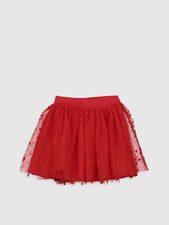 Kırmızı Kız Bebek Desenli Tül Etek 0S8524Z1 LC Waikiki