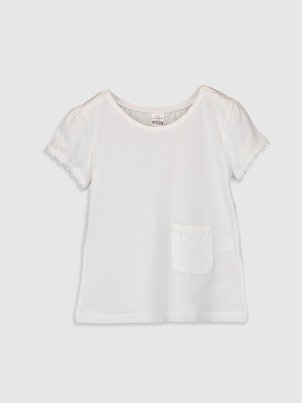 Ekru Kız Bebek Basic Pamuklu Tişört 0S8701Z1 LC Waikiki
