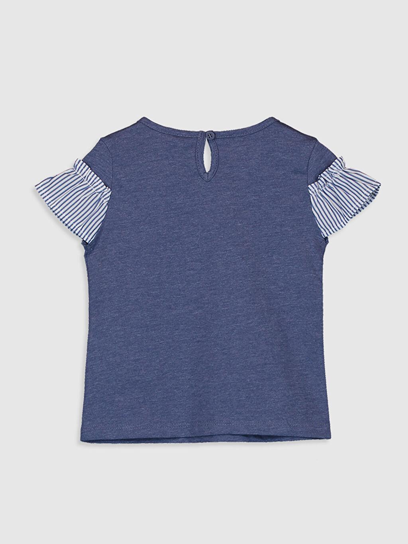%50 Pamuk %50 Polyester Standart Düz Kısa Kol Tişört Bisiklet Yaka Kız Bebek Tişört