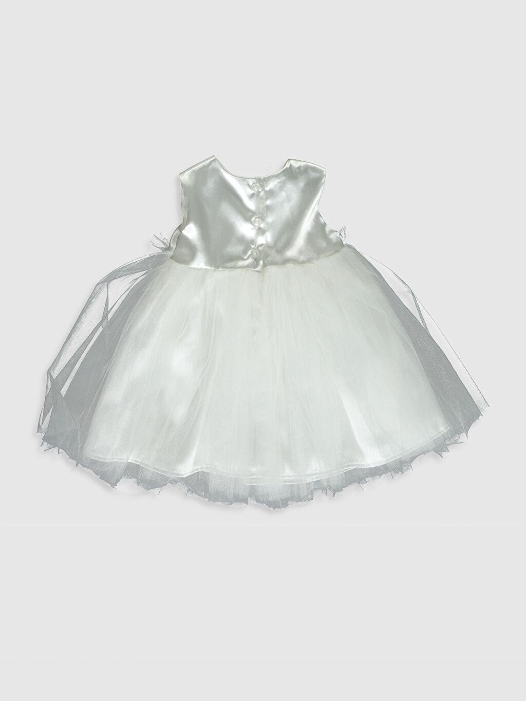 %100 Polyester %98 Pamuk %2 Elastan %100 Pamuk  Kız Bebek Tül Detaylı Elbise ve Saç Bandı