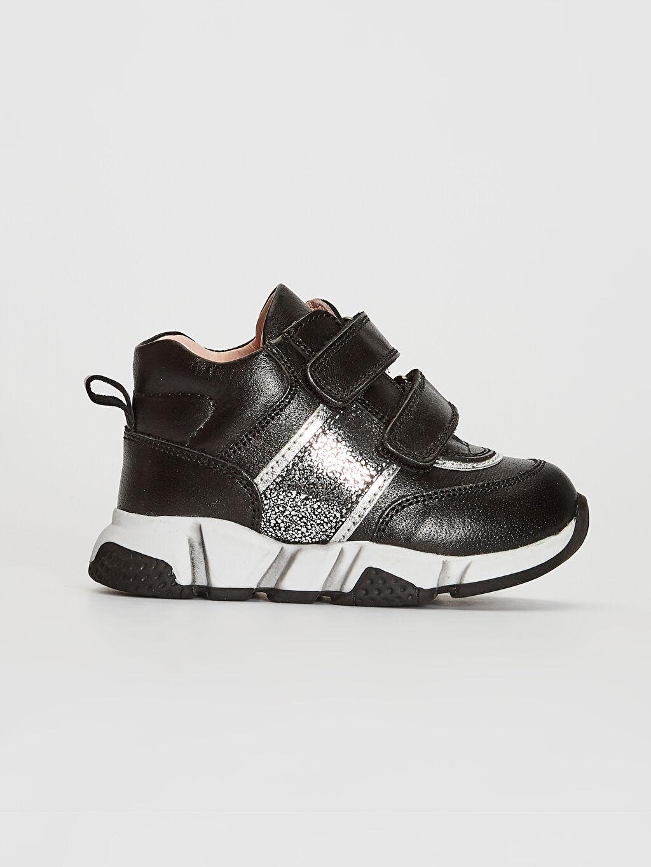 Siyah Kız Bebek Hakiki Deri Günlük Spor Ayakkabı 0S8922Z1 LC Waikiki