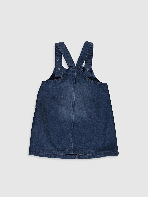 %100 Pamuk %100 Pamuk Düz Kız Bebek Jean Elbise
