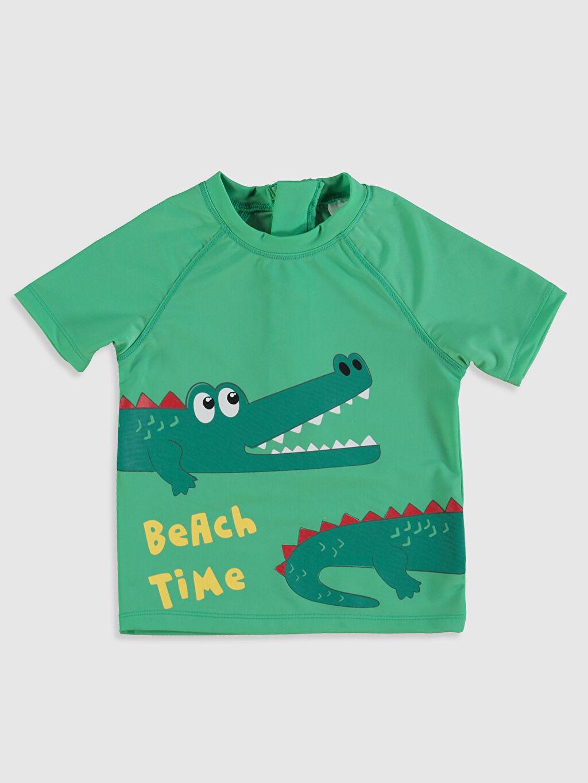 Erkek Bebek Erkek Bebek Baskılı Plaj Kıyafeti