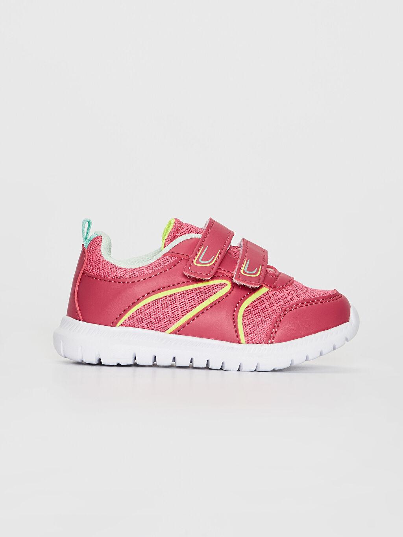 Pembe Kız Bebek Cırt Cırtlı Günlük Spor Ayakkabı 0S8997Z1 LC Waikiki