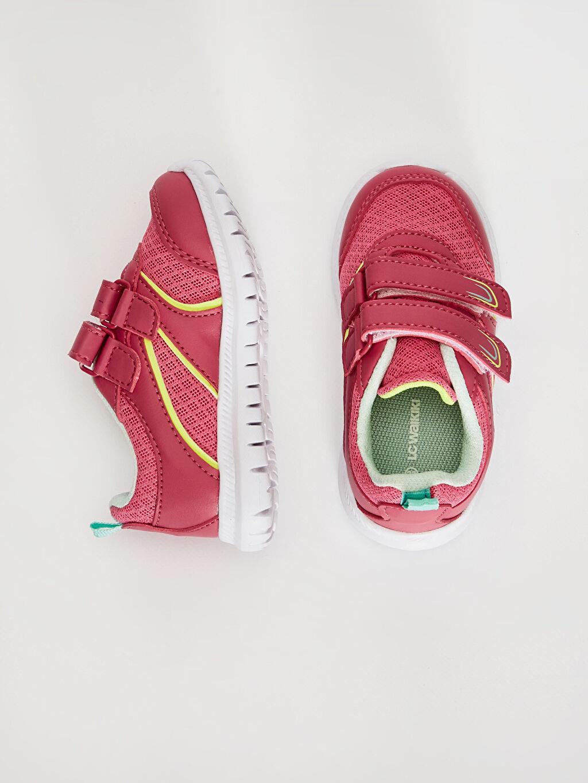 %0 Diğer malzeme (poliüretan) %0 Tekstil malzemeleri (%100 poliester)  Kız Bebek Cırt Cırtlı Günlük Spor Ayakkabı