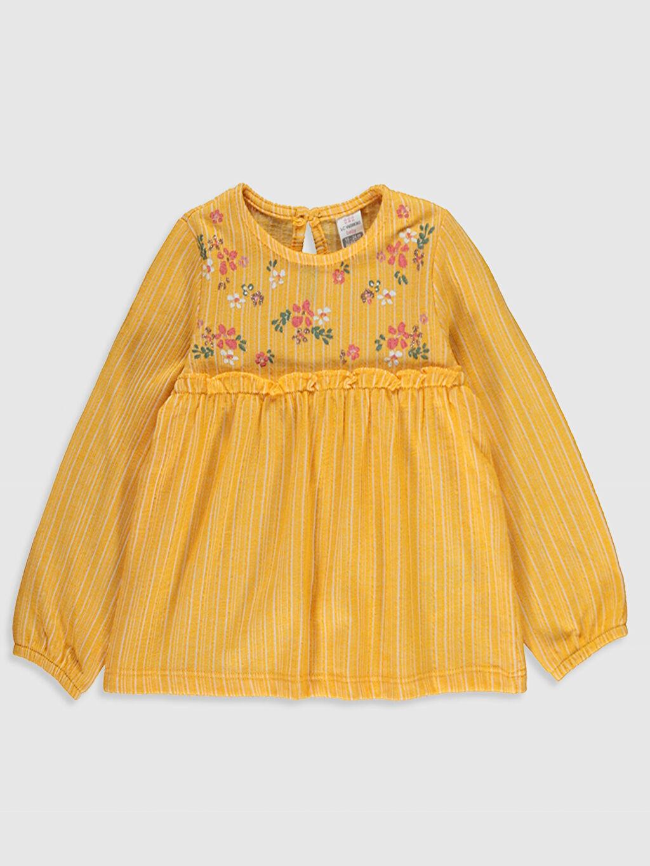 Turuncu Kız Bebek Baskılı Tişört  0S9030Z1 LC Waikiki