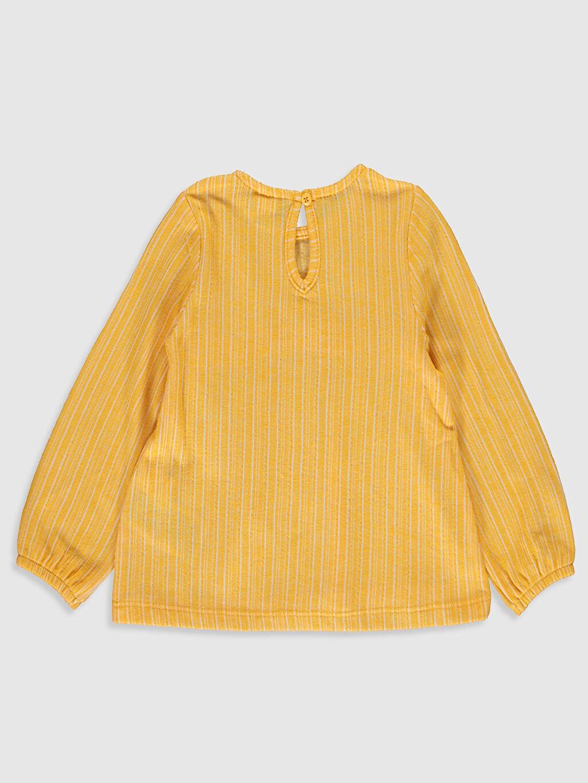 %68 Pamuk %32 Polyester Standart Baskılı Uzun Kol Tişört Bisiklet Yaka Kız Bebek Baskılı Tişört