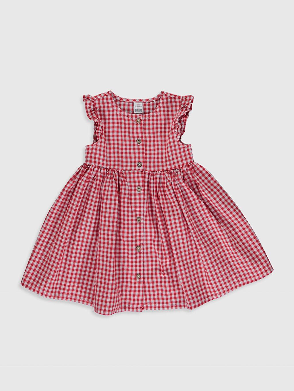 Kırmızı Kız Bebek Pamuklu Elbise 0S9182Z1 LC Waikiki