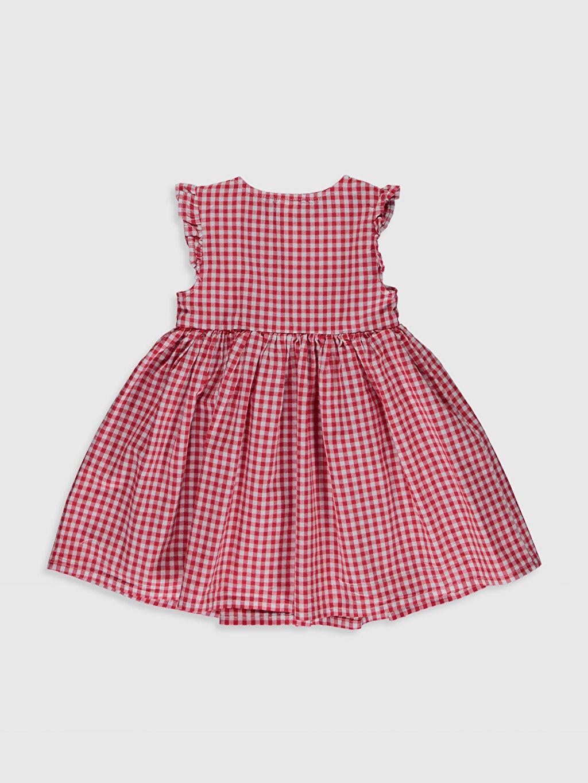 %100 Pamuk Desenli Kız Bebek Pamuklu Elbise