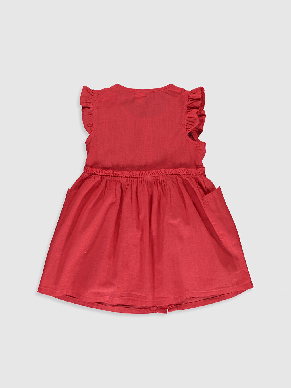 %100 Pamuk %100 Pamuk Düz Kız Bebek Basic Elbise