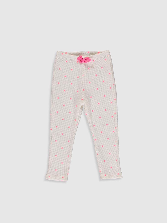 Pembe Kız Bebek Puantiyeli Pantolon 0S9437Z1 LC Waikiki