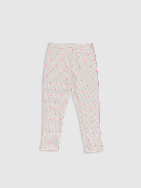 %100 Pamuk  Kız Bebek Puantiyeli Pantolon