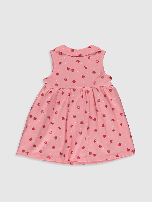 Desenli Kız Bebek Puantiyeli Elbise
