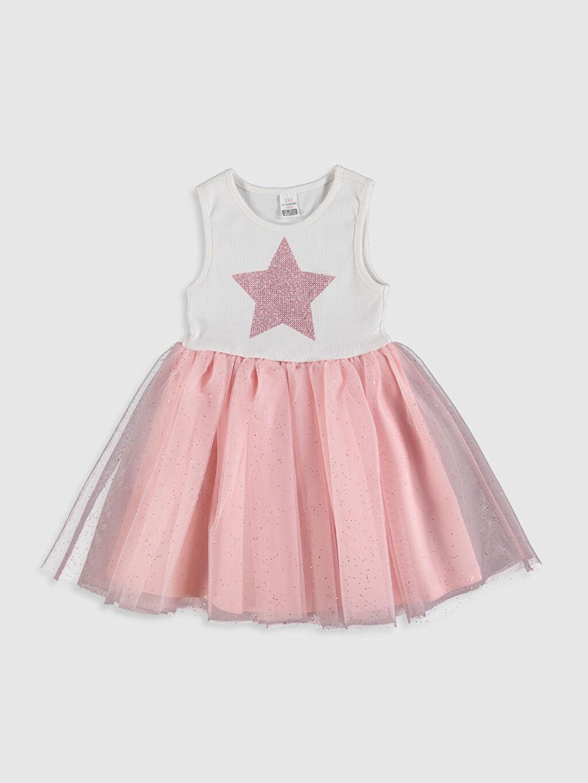 Pembe Kız Bebek Desenli Elbise 0S9555Z1 LC Waikiki