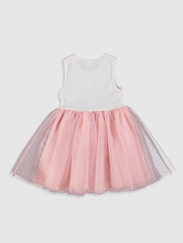 %98 Pamuk %2 Elastan %100 Pamuk Uzun Desenli Kız Bebek Desenli Elbise