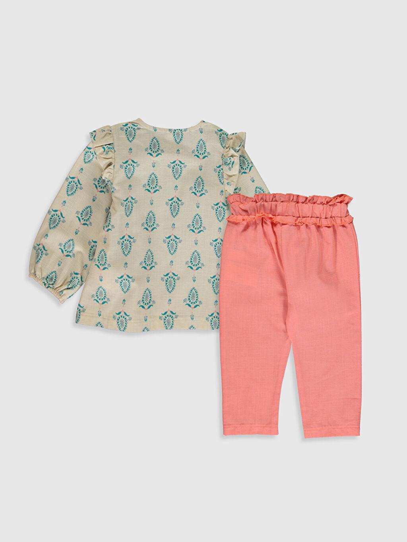 %100 Pamuk %100 Pamuk  Kız Bebek Bluz ve Pantolon